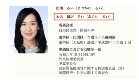 参議院議員の経歴 松川るい